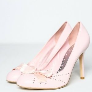 BCBG Girls Pink Ballet Heels with Bow Detail